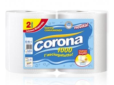 CORONA ROTOLONE CARTA 1000 PUNTI CONFEZIONE DA 2 BOBINE